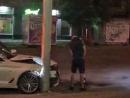 BMW и столб
