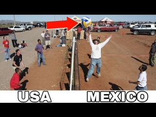 VOLLEYBALL ON BORDER ! Funny Volleyball Videos (HD)