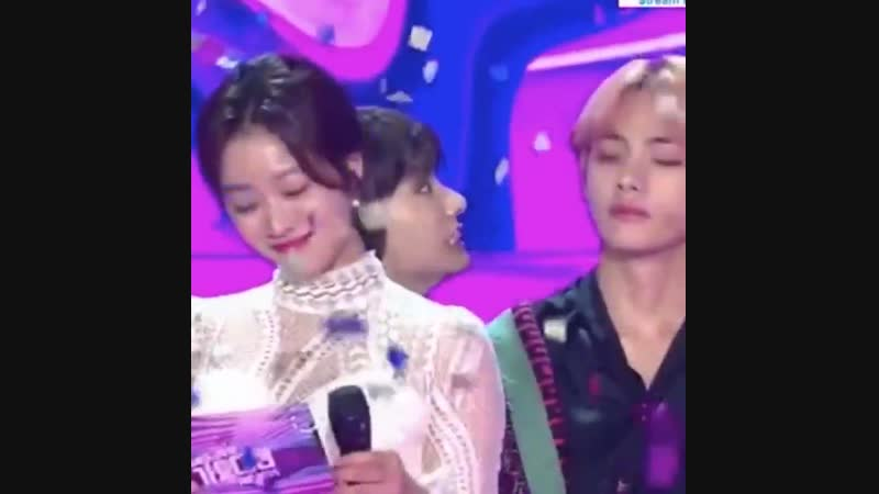 Jungkook was just glitching in the back what a baby