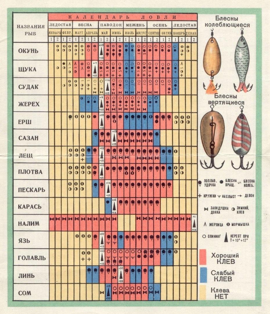 Календарь клева саратовской области