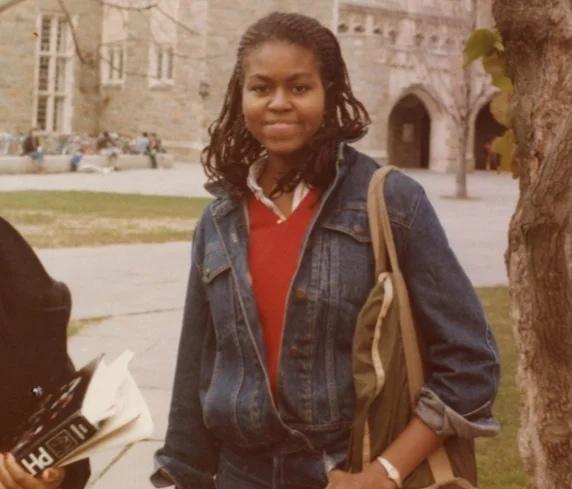 Молодая Мишель Обама