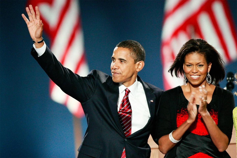 Барак и Мишель Обама в Белом доме.