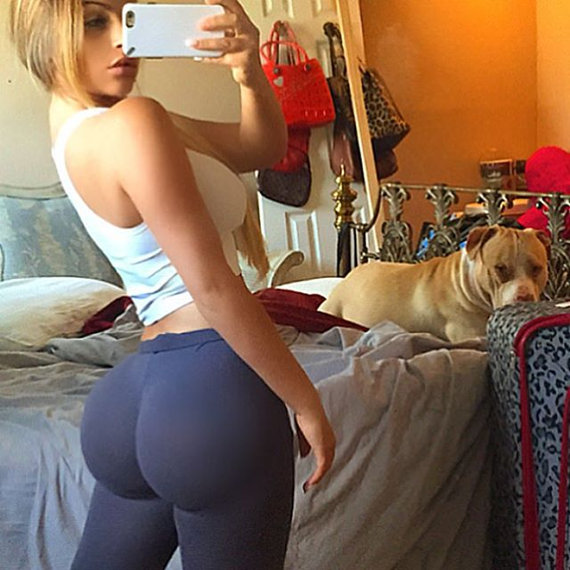 White girl laying down taking poll a
