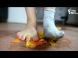 Czech Soles - Sofia crushing tangerine in socks