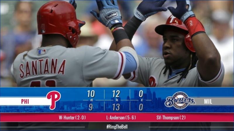 Game 69: PHI_10_MIL_9 © MLB.com