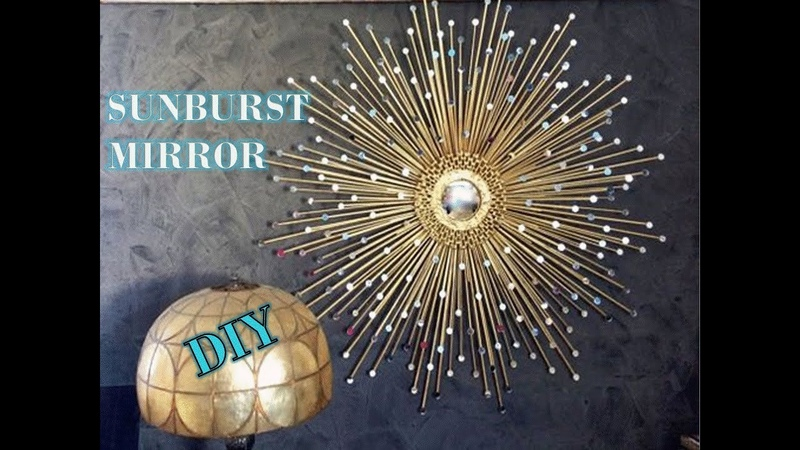 DIY SUNBURST GLAM MIRROR