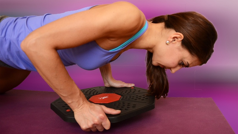HOTT Wobble Board Balance Workout