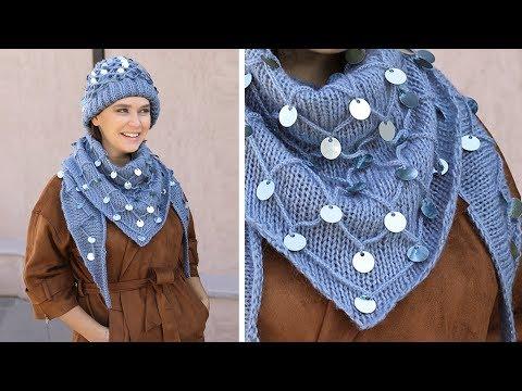 🔴 Pullu Bere ve Şal Yapımı Sequin Hat and Shawl