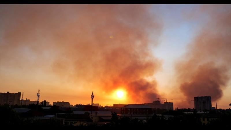 Пожар вид с Лузана и Дзержинского