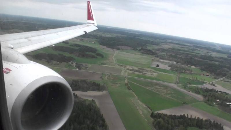 Spectacular Sweden Fantastic HD 737 Landing in Stockholm Arlanda