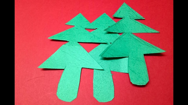 How to Make populer 3D Paper Christmas Tree Very Easy Origami Paper Craft Christmas Tree Tutorial