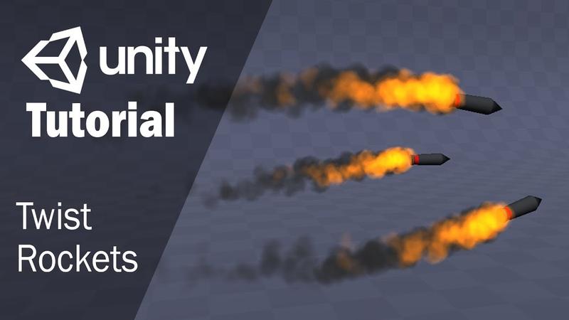Создание спецэффекта ракетного выстрела   Unity 3D