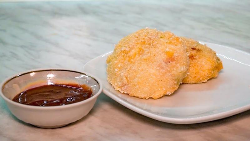Крокеты картофельные с ветчиной и сыром, рецепт пошагово