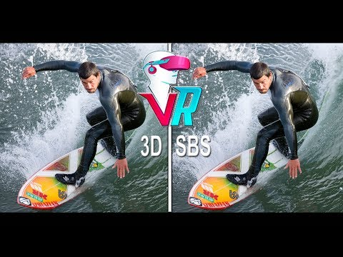 3D Surfing First Person GoPro - Full HD (3D SBS VR Box)