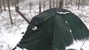 Одиночный зимний поход с палаткой и печкой Разведка Туголесского кратера