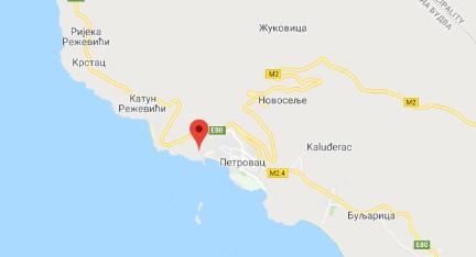 Where is the hotel Danica in Petrovac?