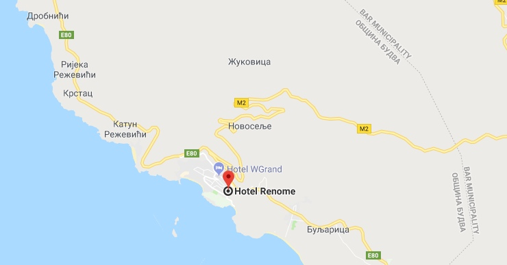 How to get to the hotel Apart-hotel Renome in Petrovac