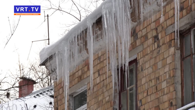 Ледяные кружева! Тревогу бьют жители дома 18А по ул. Спортивной.