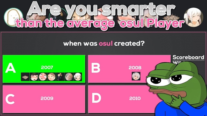 [Osu! Gameshow] Are you smarter than the average osu! player? ft. Will Stetson