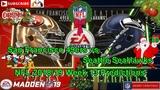 San Francisco 49ers vs. Seattle SeaHawks NFL 2018-19 Week 13 Predictions Madden NFL 19