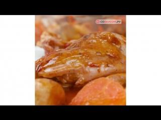 Курица, запеченная в вине | Больше рецептов в группе Кулинарные Рецепты