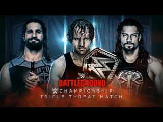 Dean Ambrose(c) vs Seth Rollins vs Roman Reighs. Triple Threat Match for WWE Championship.