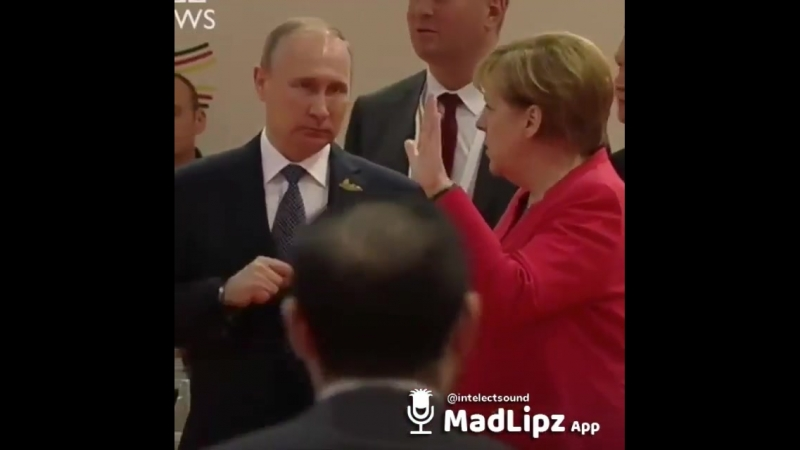 Путин и Ангела Меркель