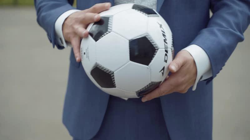 Небольшая футбольная тема с молодоженами на свадьбе:)