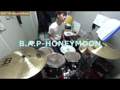 B.A.P-HONEYMOON 짱돌드럼 Jangdol Drum (드럼커버 Drum Cover, 드럼악보 Drum Score)