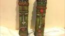 Tribal bottle art/ bottle decoration/ diy bottle art/ glass jar decoration