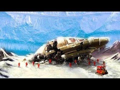 Растаявший участок льда в Антарктиде обнажил чудовищную тайну.НЛО.Кто поверг в бегство 6 флот США
