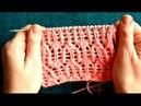Вязание спицами.Ажурный узор №1.KNITTING