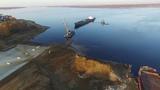 Подъем судна ВОЛГО-ДОН на пневматических ролик-мешках производства ООО НППСибрезинотехника