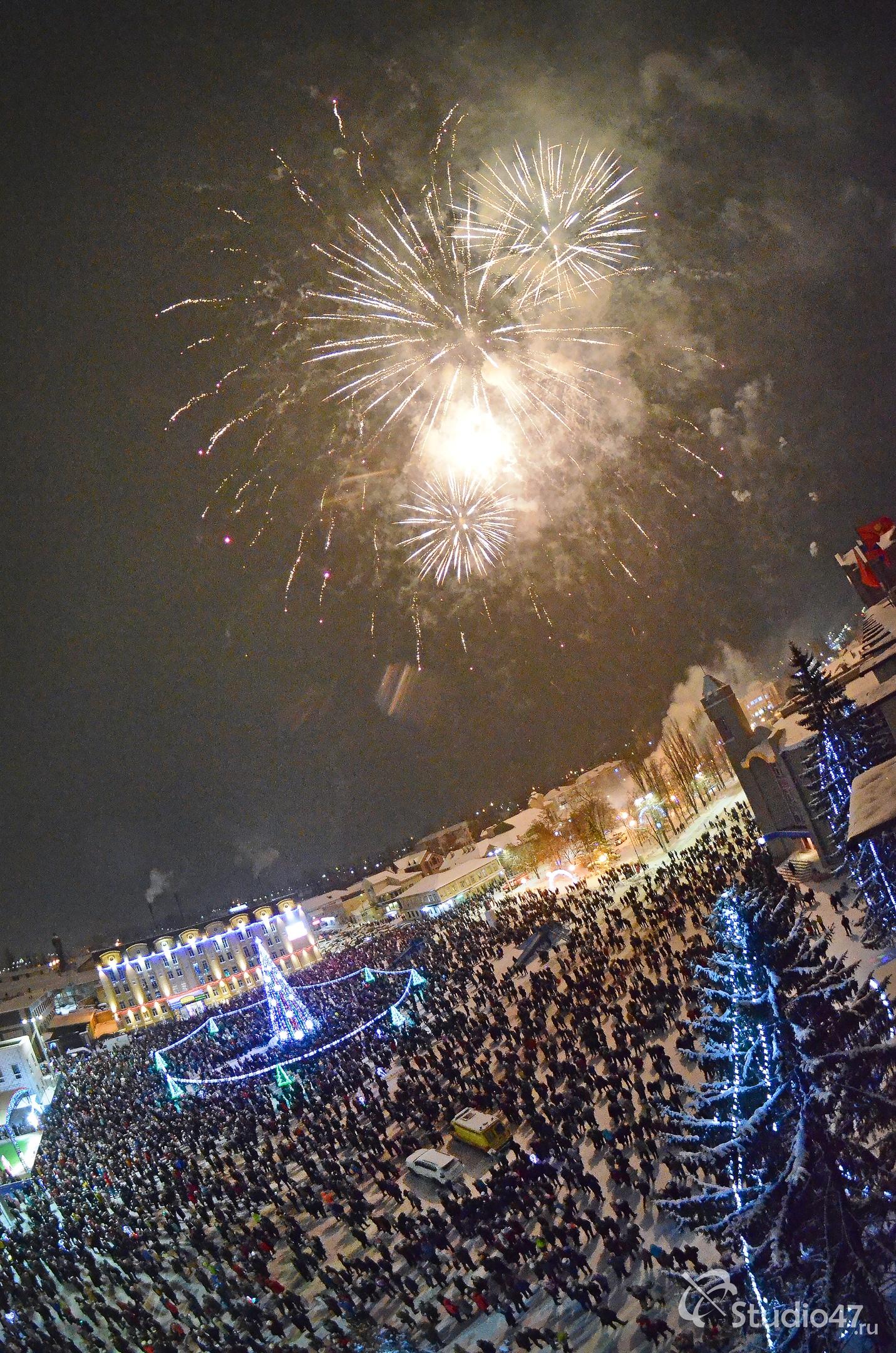 Новогодний салют в Борисоглебске