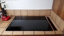 Drop in Cook Top installation Before kitchen remodel Установка плиты