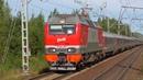 ЭП2К 155 с фирменным поездом Арктика Москва Мурманск