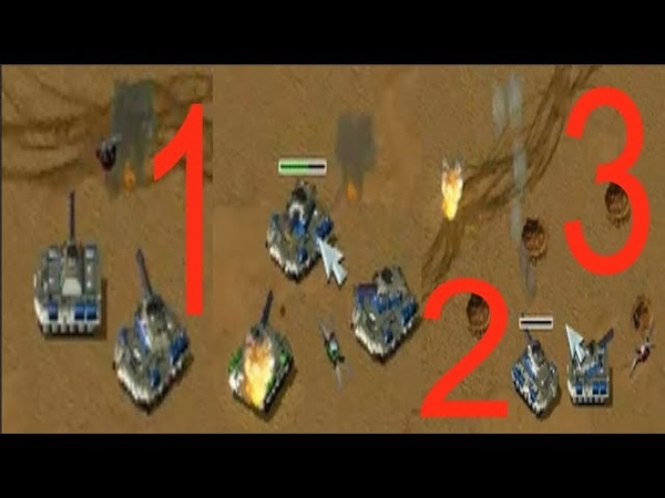 Red Alert 2 Yuri's Revenge - 2 vs 2 Pro Game on the map Tour of Egypt with commentaries