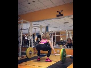 Анна Бондаренко. Рывок 67 кг. Комбинезон Black n Rose