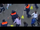 Flash mob in Moscow, Russia