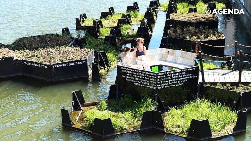 Парк создан из переработанного пластика