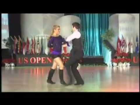 Ben Morris and Melina Ramirez US Open Swing Dance Championships 2008 West Coast Swing Routine