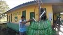 Mãos que fazem, arte - árvore de natal de garrafa pet - Afuá.