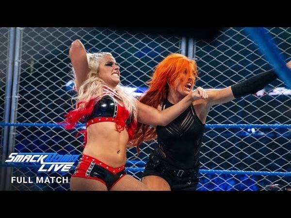 FULL MATCH - Lynch vs. Bliss - Steel Cage Match: SmackDown LIVE, Jan. 17, 2017 (WWE Network)