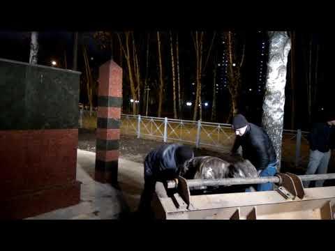 Очередные косяки подрядчиков на Монументе Пограничникам 13.11.2018 г-5