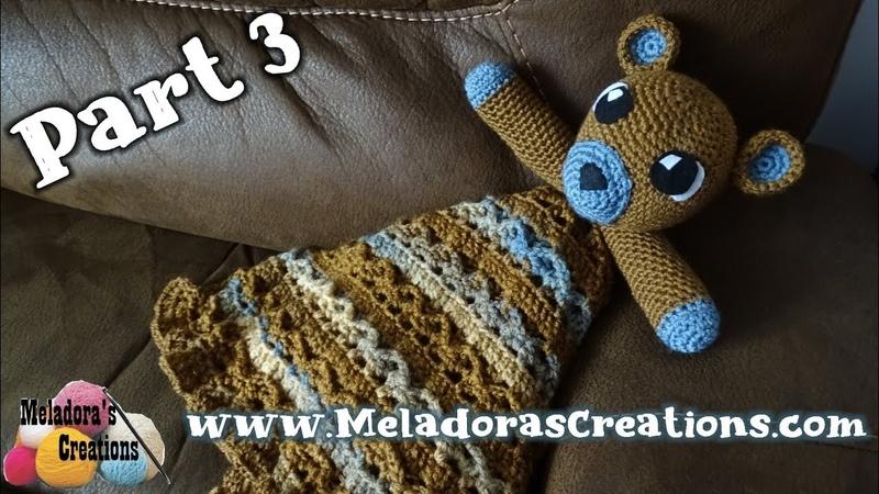 Teddy Bear Lovey Part 3 - Right Handed Crochet Tutorial