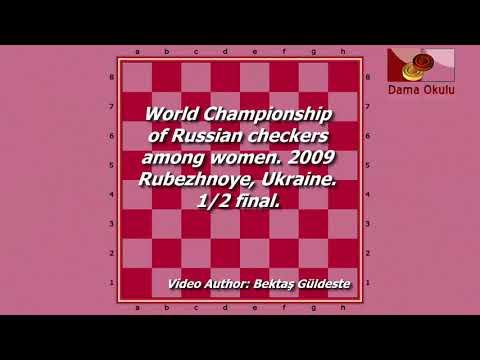 Tyurina Maria (RUS) - Sarshaeva Zhanna (RUS). World Draughts-64_women. Semifinal.