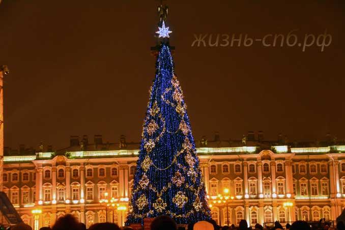 Новогодняя елка Дворцовой площади 01.01.18