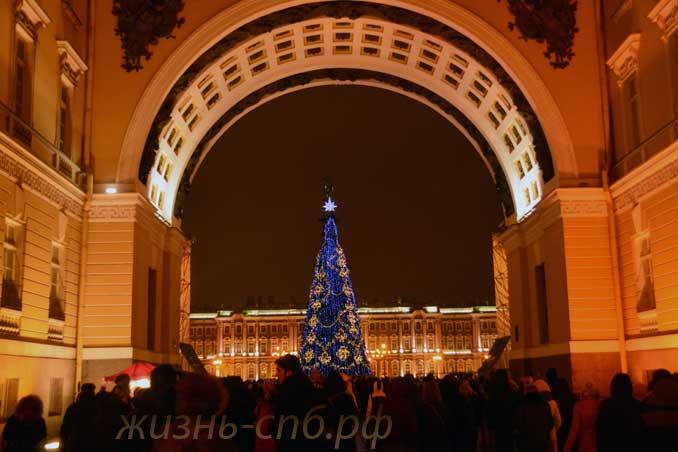 Новый Год на Дворцовой площади 01.01.18