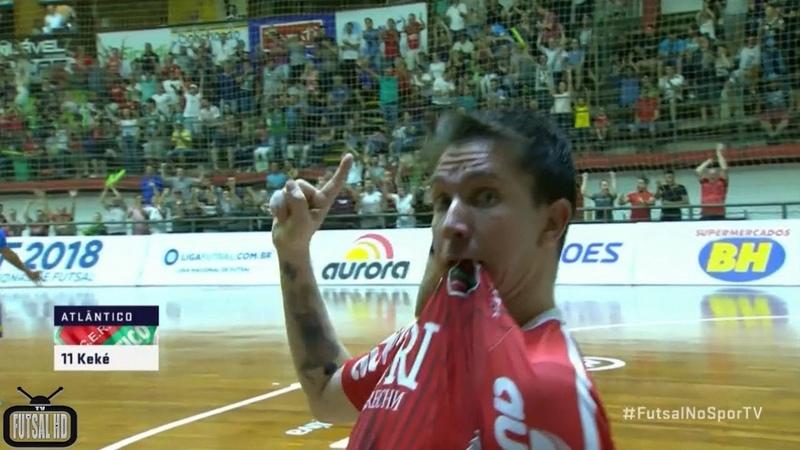 Gols Atlântico 3x2 Minas - Quartas de Final 2º Jogo Liga Nacional de Futsal 2018 (09112018)