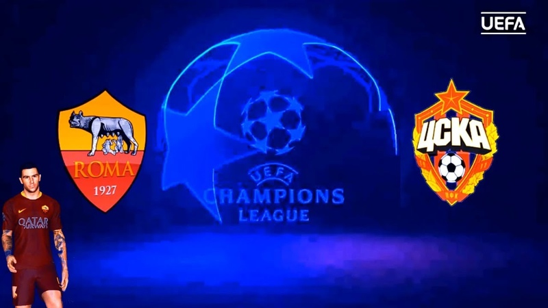AS Roma vs CSKA Moskva | UEFA Champions League Stage Group Match | PES 2017